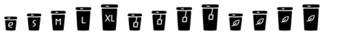 Jabana Extras Cafe Bar Icons Black Font UPPERCASE