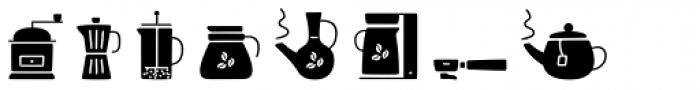 Jabana Extras Cafe Bar Icons Black Font LOWERCASE