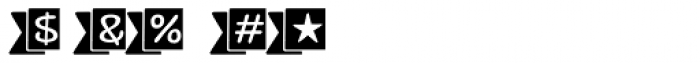 Jabana Extras Catchwords Black Font OTHER CHARS