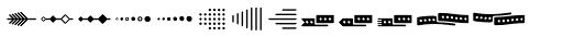Jabana Extras Divider Font UPPERCASE