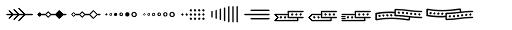 Jabana Extras Divider Font LOWERCASE