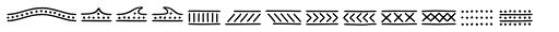 Jabana Extras Lines Font UPPERCASE