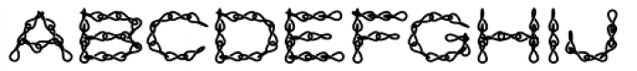 Jack Chain AOE Fill Font LOWERCASE