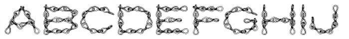 Jack Chain AOE Font LOWERCASE