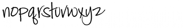 Jackie Sue BF Font LOWERCASE