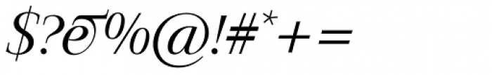 Jaeger-Antiqua BQ Light Italic Font OTHER CHARS