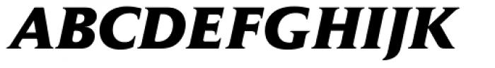 Jaeger Daily News ExtraBold Italic Font UPPERCASE
