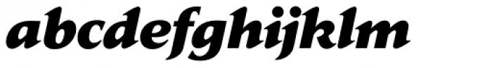 Jaeger Daily News ExtraBold Italic Font LOWERCASE
