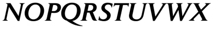 Jaeger Daily News Medium Italic Font UPPERCASE