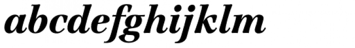 Jamille Std Black Italic Font LOWERCASE