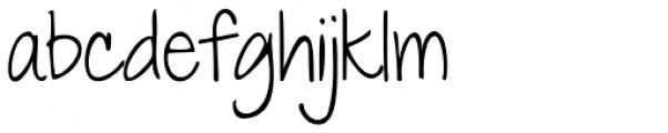 Janda Everyday Casual Font LOWERCASE