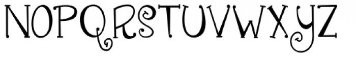 Janda Quirkygirl Font UPPERCASE