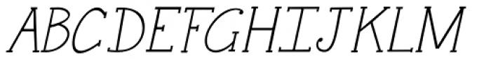 Janda Snickerdoodle Serif Italic Font UPPERCASE