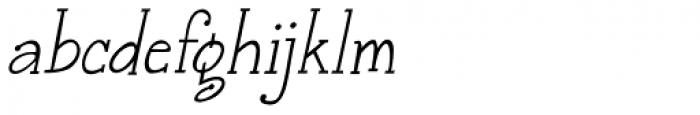 Janda Snickerdoodle Serif Italic Font LOWERCASE