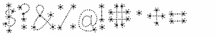 Janda Sparkle And Shine Font OTHER CHARS