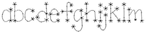 Janda Sparkle And Shine Font LOWERCASE