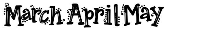 Janda Spring Doodles Font UPPERCASE