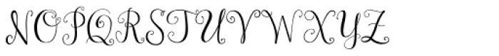 Janda Stylish Monogram Font LOWERCASE