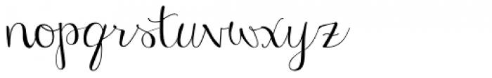 Janda Stylish Script Font LOWERCASE