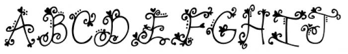 Janda Swirly Twirly Font UPPERCASE