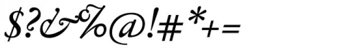Jannon Antiqua Medium Italic Font OTHER CHARS