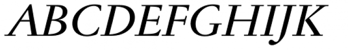 Jannon Antiqua Medium Italic Font UPPERCASE