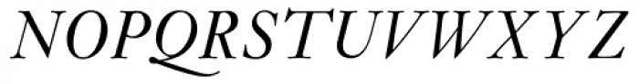 Janson MT Italic Font UPPERCASE