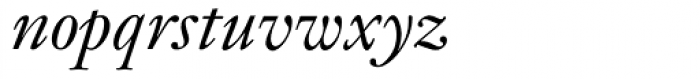 Janson MT Italic Font LOWERCASE