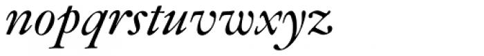 Janson SB Italic Font LOWERCASE