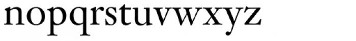 Janson SB Roman Font LOWERCASE