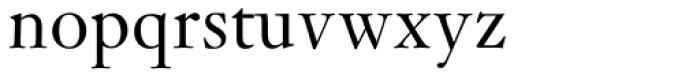 Janson Std Regular Font LOWERCASE