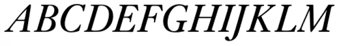 Janson URW Italic Font UPPERCASE
