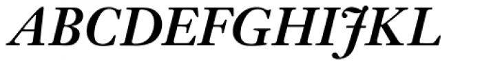 Janson URW Medium Italic Font UPPERCASE