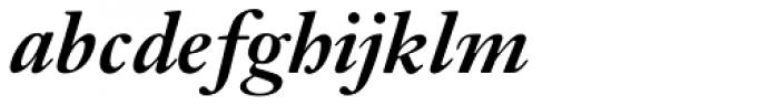 Janson URW Medium Italic Font LOWERCASE