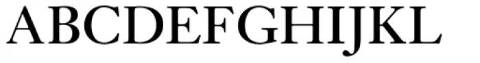 Janson URW Regular Font UPPERCASE