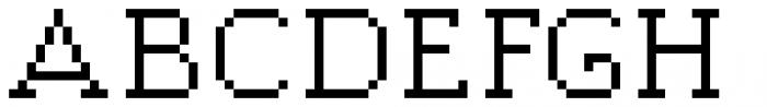 Jansta Serif Regular Font UPPERCASE