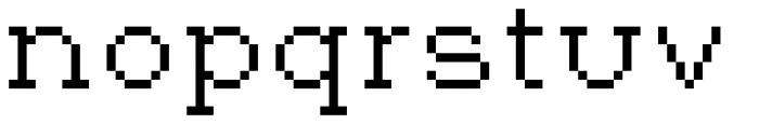 Jansta Serif Regular Font LOWERCASE