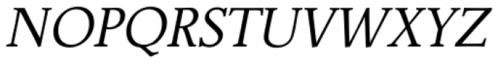 Jante Antiqua Std Italic Font UPPERCASE