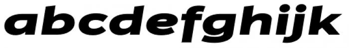 Jasan Wide Black Italic Font LOWERCASE
