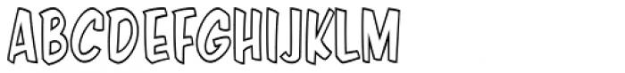 Java Jive Outline Condensed Font UPPERCASE