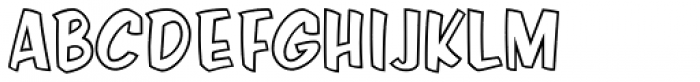 Java Jive Outline Font UPPERCASE