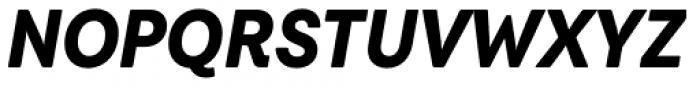 Javiera Black Italic Font UPPERCASE