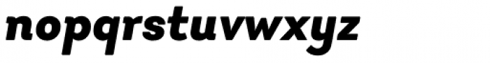 Javiera Black Italic Font LOWERCASE