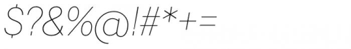 Javiera Thin Italic Font OTHER CHARS