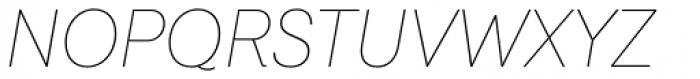 Javiera Thin Italic Font UPPERCASE