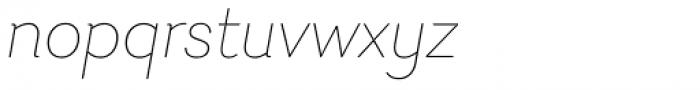 Javiera Thin Italic Font LOWERCASE