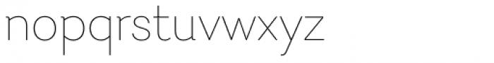 Javiera Thin Font LOWERCASE