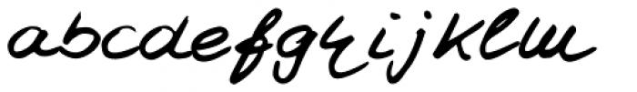 Jay Handwriting Pro Font LOWERCASE