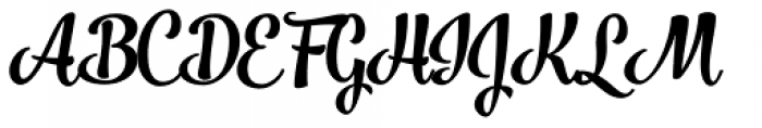 Jazz Script 1 Bold Font UPPERCASE