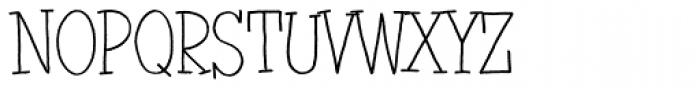 Jazznik Light Font UPPERCASE